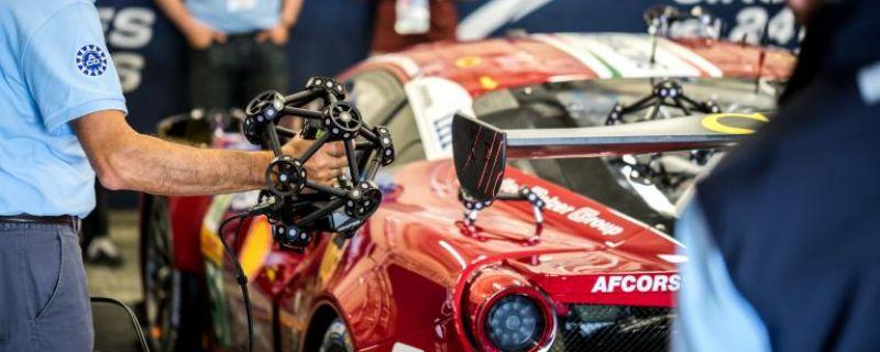 Escaneo 3D en las 24 horas de Le Mans