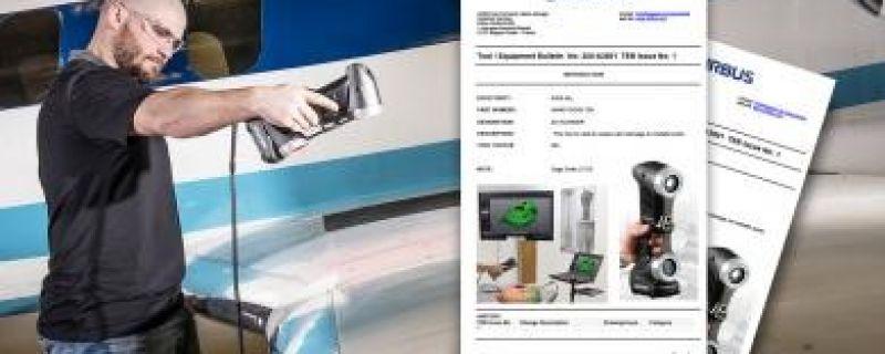 HandyScan 3D obtiene certificación de Airbus